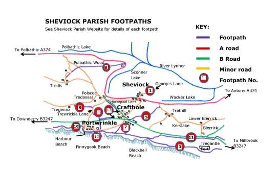 Map of footpaths